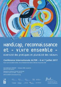 Affiche de la conference Alter. Informations générales. Dessin décoratif